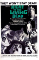 Poster de la película Night of the Living Dead dirigida por George A. Romero