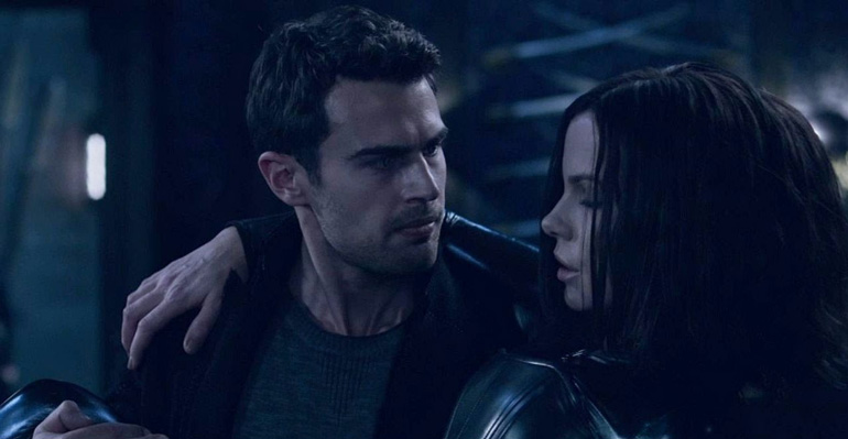 Escena de Underworld Awakening con  Theo James, como el vampiro David