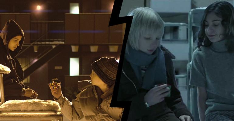 Let the right one in (2008) y Let Me In (2010), en un tema de Be Afraid de remakes de terror.