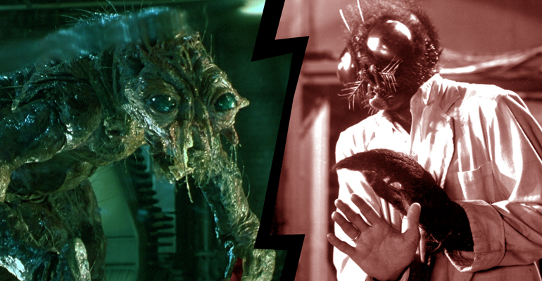 The Fly (1958) vs. The Fly (1986), en un tema de Be Afraid de remakes de terror.