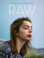 Poster de Raw protagonizada por Garance Marillier, Ella Rumpf, Rabah Nait Oufella  y dirigida por Julia Ducournau