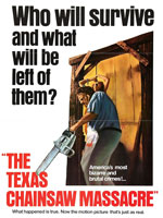 Poster de The Texas Chain Saw Massacre protagonizada por Marilyn Burns, Edwin Neal, Allen Danziger y dirigida por Tobe Hooper