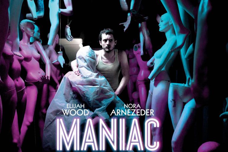 Poster del remake de la película de terror Maniac protagonizada por Elijah Wood.
